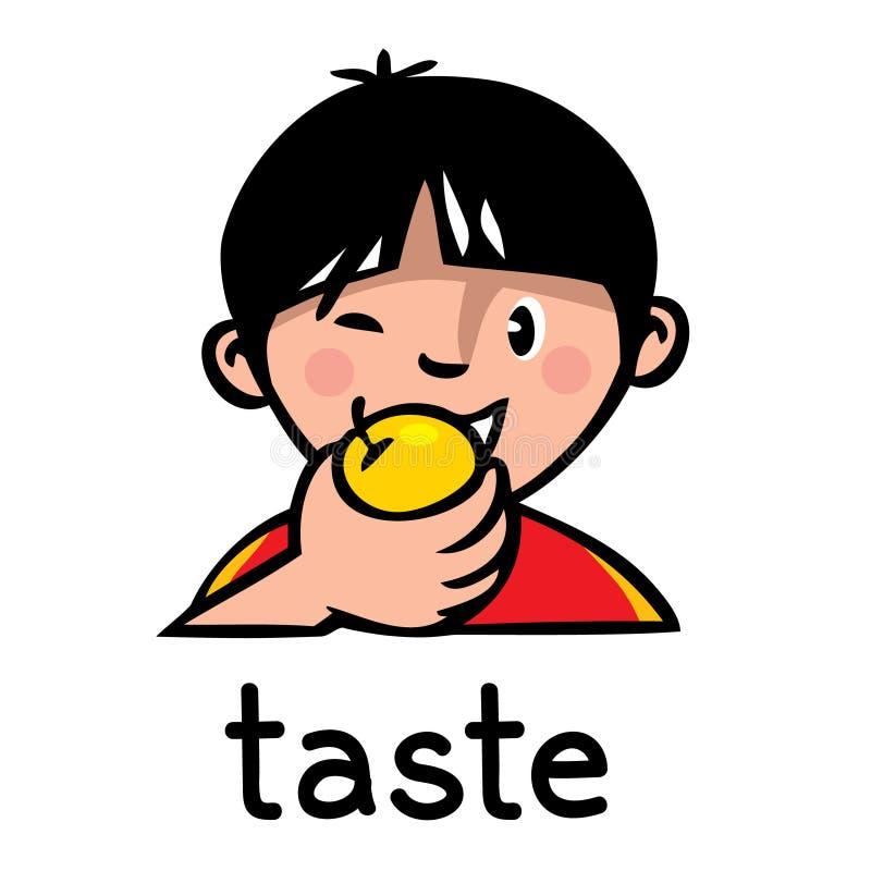 Icono del sentido del gusto ilustración del vector