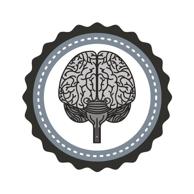 Icono del ser humano del órgano del cerebro stock de ilustración