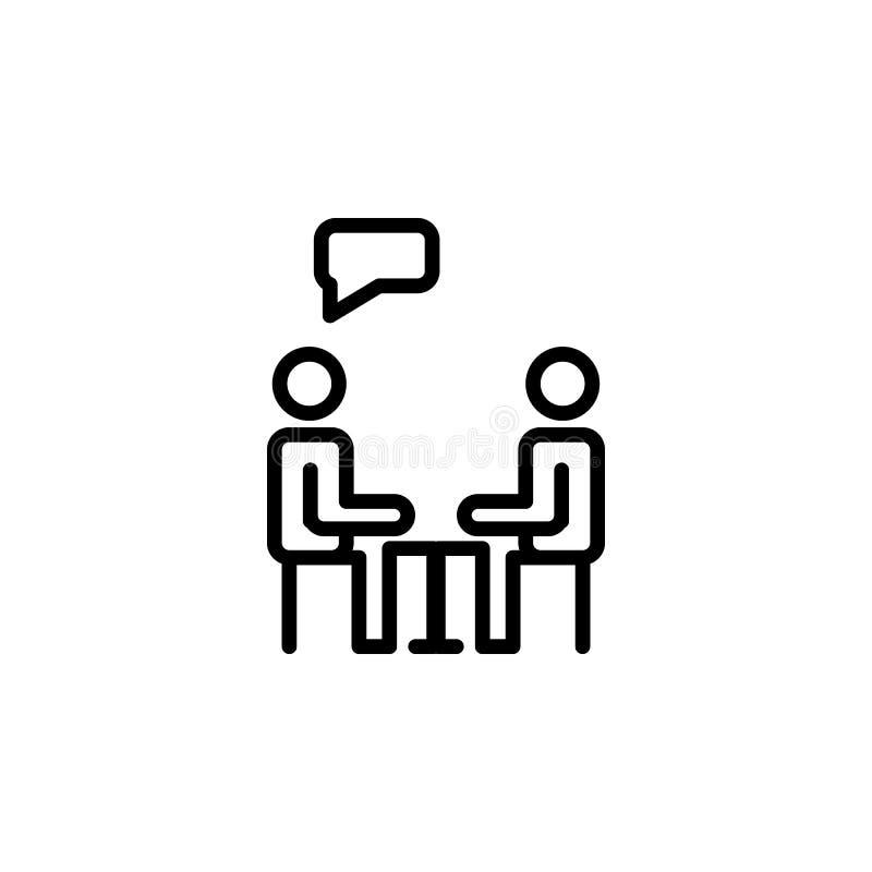 icono del ser humano del diálogo stock de ilustración