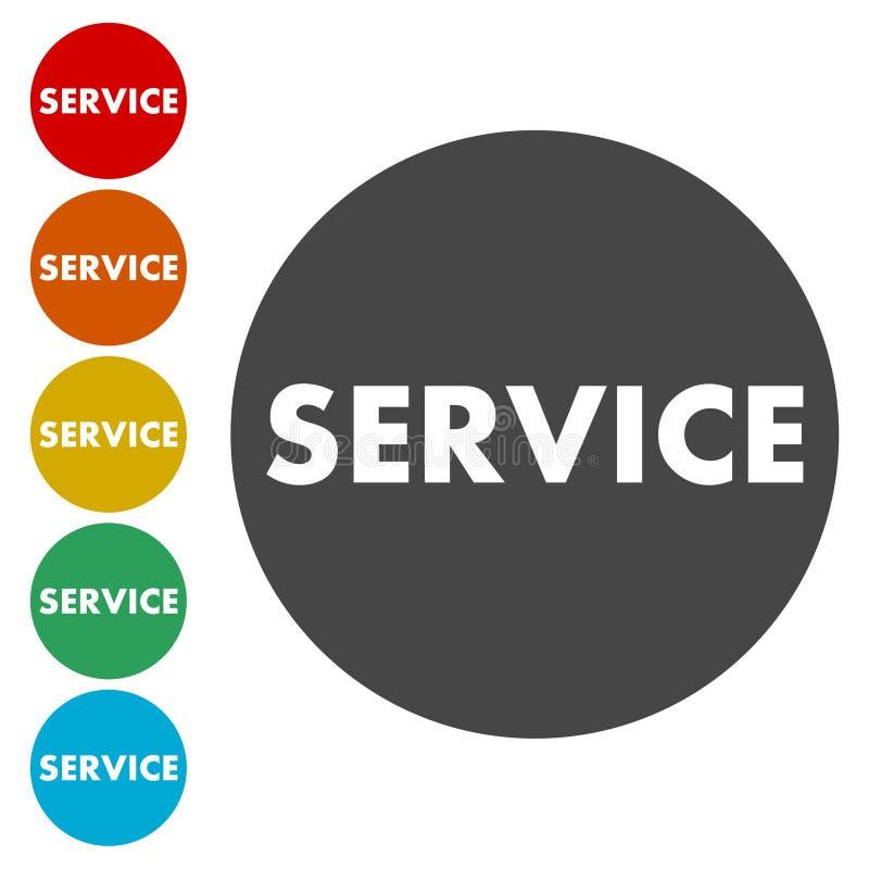 Icono del servicio, botón stock de ilustración
