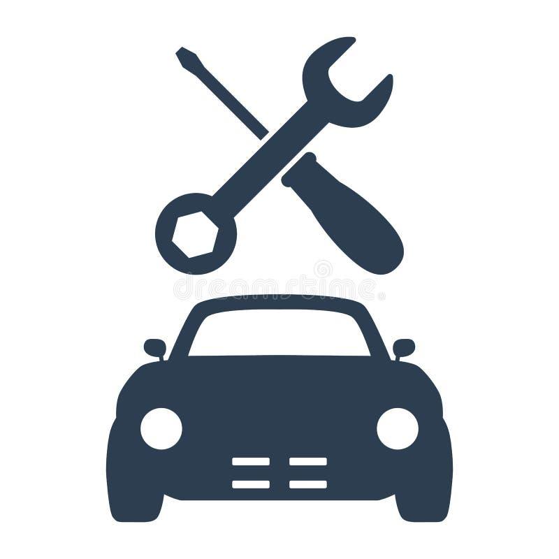 Icono del servicio del coche en el fondo blanco imagen de archivo libre de regalías