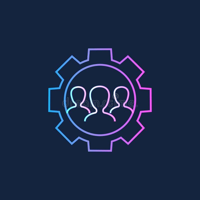 Icono del servicio de asistencia Configuraciones del usuario ilustración del vector
