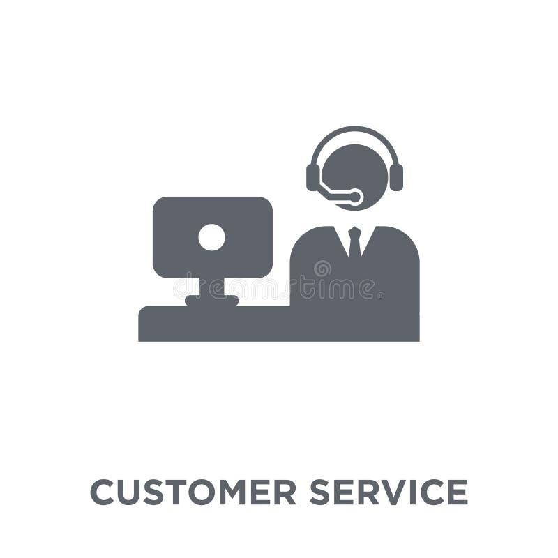 Icono del servicio de atención al cliente de la colección de la comunicación stock de ilustración