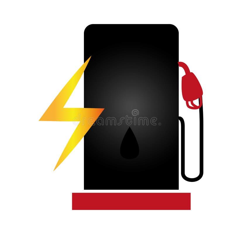 icono del servicio de la estación del combustible ilustración del vector