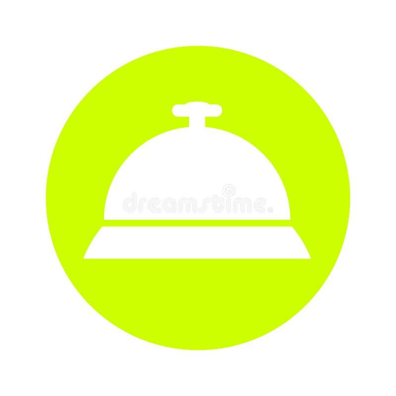 Icono del servicio, icono de la recepción de la llamada, ejemplo del vector libre illustration
