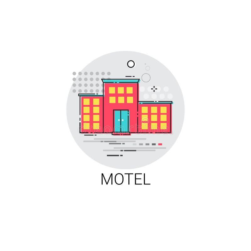 Icono del servicio del apartamento del edificio del motel ilustración del vector