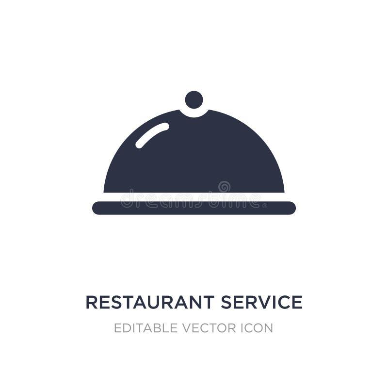 icono del servicio del restaurante en el fondo blanco Ejemplo simple del elemento de la comida y del concepto del restaurante stock de ilustración