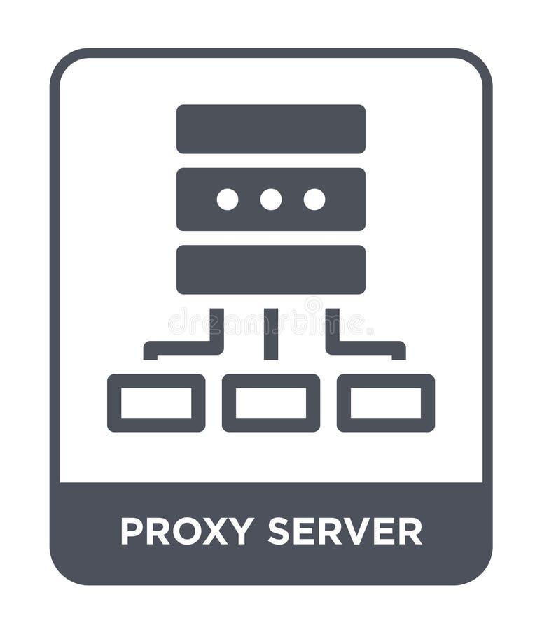 icono del servidor proxy en estilo de moda del diseño icono del servidor proxy aislado en el fondo blanco icono del vector del se stock de ilustración