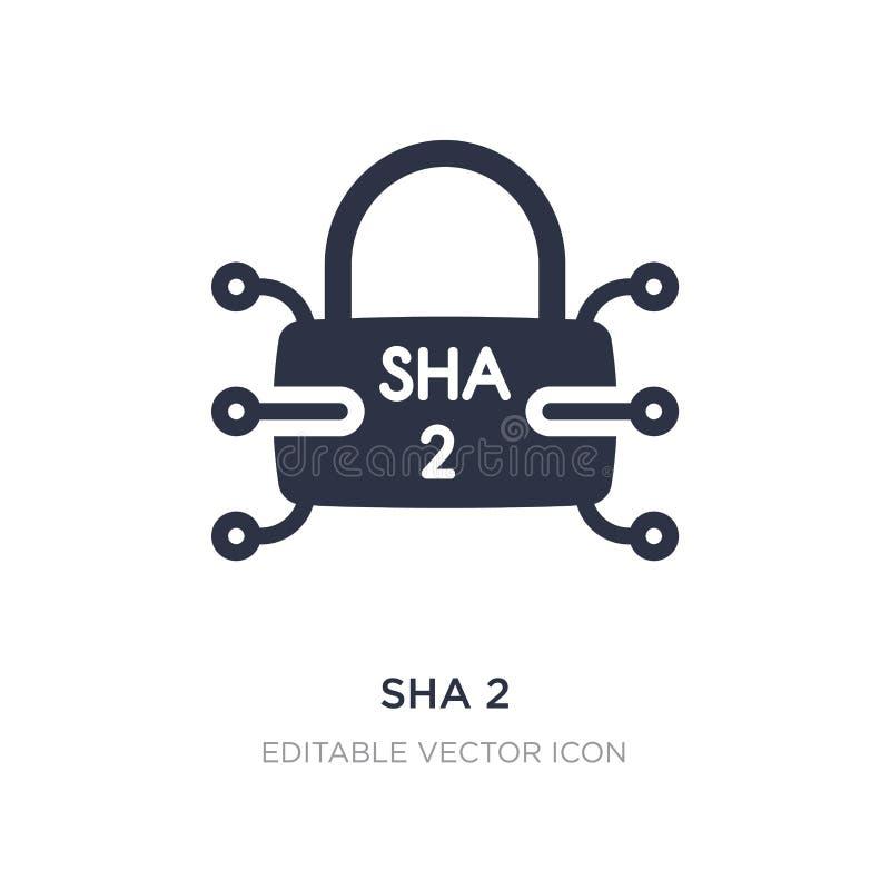 icono del sha 2 en el fondo blanco Ejemplo simple del elemento del concepto de la seguridad ilustración del vector
