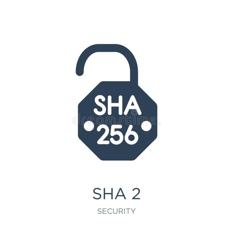 icono del sha 2 en estilo de moda del diseño icono del sha 2 aislado en el fondo blanco símbolo plano simple y moderno del icono  ilustración del vector