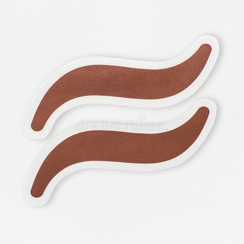 Icono del signo de igualdad aproximadamente aislado stock de ilustración