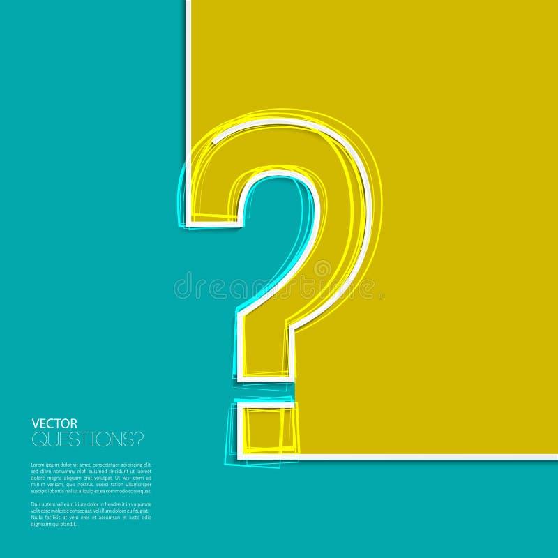 Icono del signo de interrogación del vector en diseño plano stock de ilustración
