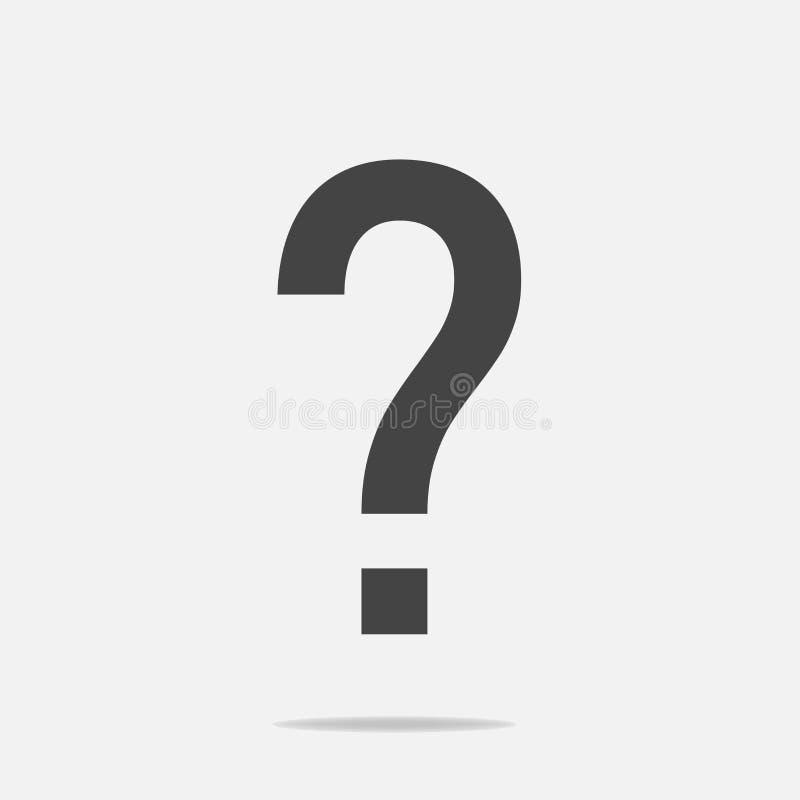 Icono del signo de interrogación Signo de interrogación plano del icono stock de ilustración