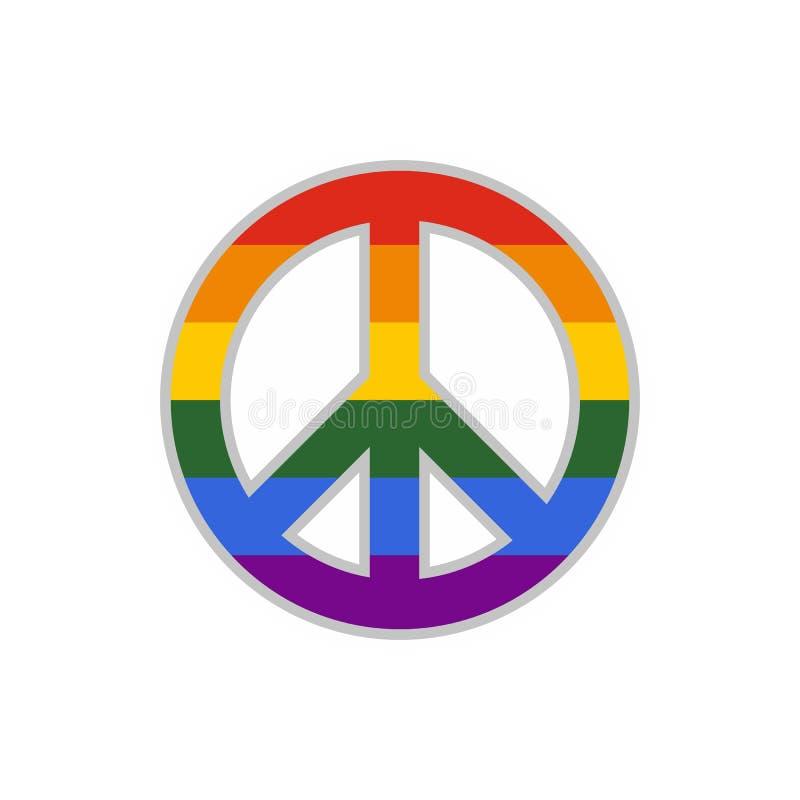 Icono Del Signo De La Paz De LGBT, Estilo Plano Ilustración del ...
