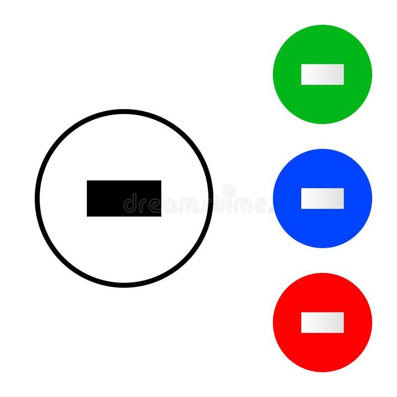Icono del signo de menos libre illustration