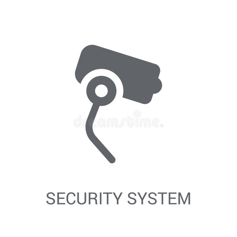 Icono del sistema de seguridad  ilustración del vector