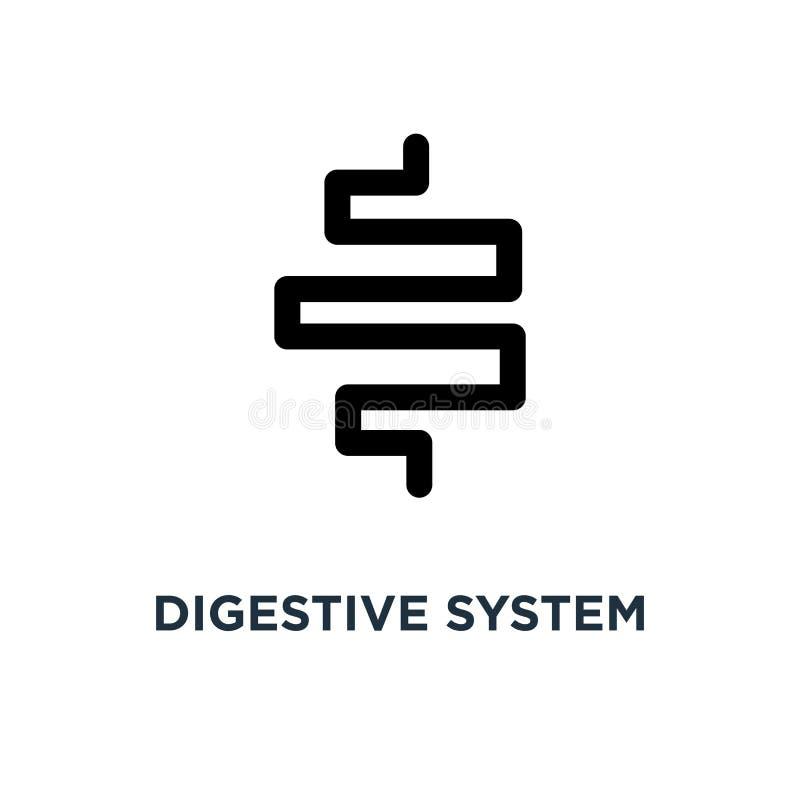 Icono del sistema digestivo Ejemplo simple del elemento Sy digestivo ilustración del vector