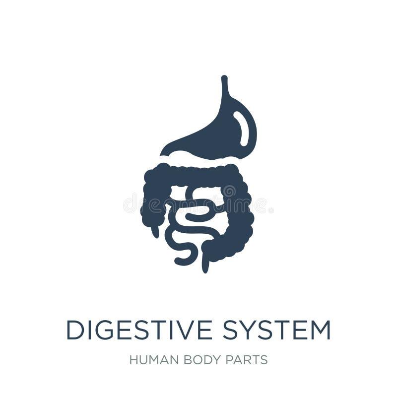 icono del sistema digestivo en estilo de moda del diseño Icono del sistema digestivo aislado en el fondo blanco Icono del vector  libre illustration
