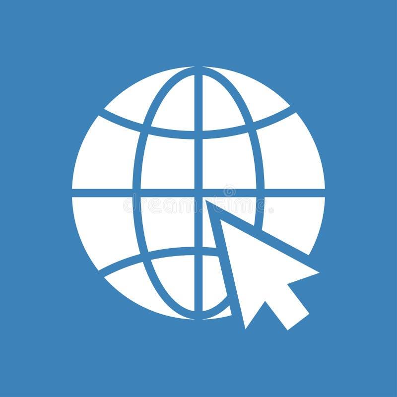 Icono del sitio web Silueta blanca en fondo azul Vector libre illustration