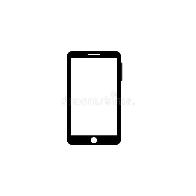 Icono del smartphone del esquema Vector stock de ilustración