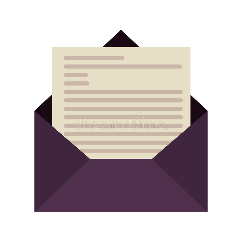 Icono del sobre del correo stock de ilustración