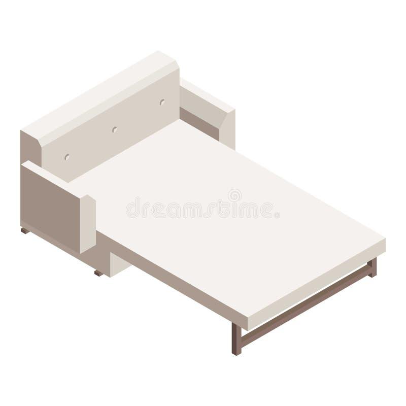 Icono del sofá del diván, estilo isométrico stock de ilustración