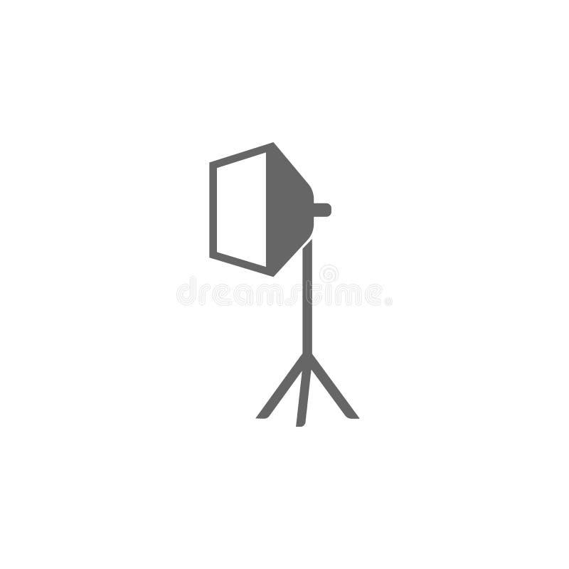 Icono del softbox del estudio Ejemplo simple del elemento Diseño del símbolo de la colección de la cámara de la foto Puede ser ut ilustración del vector