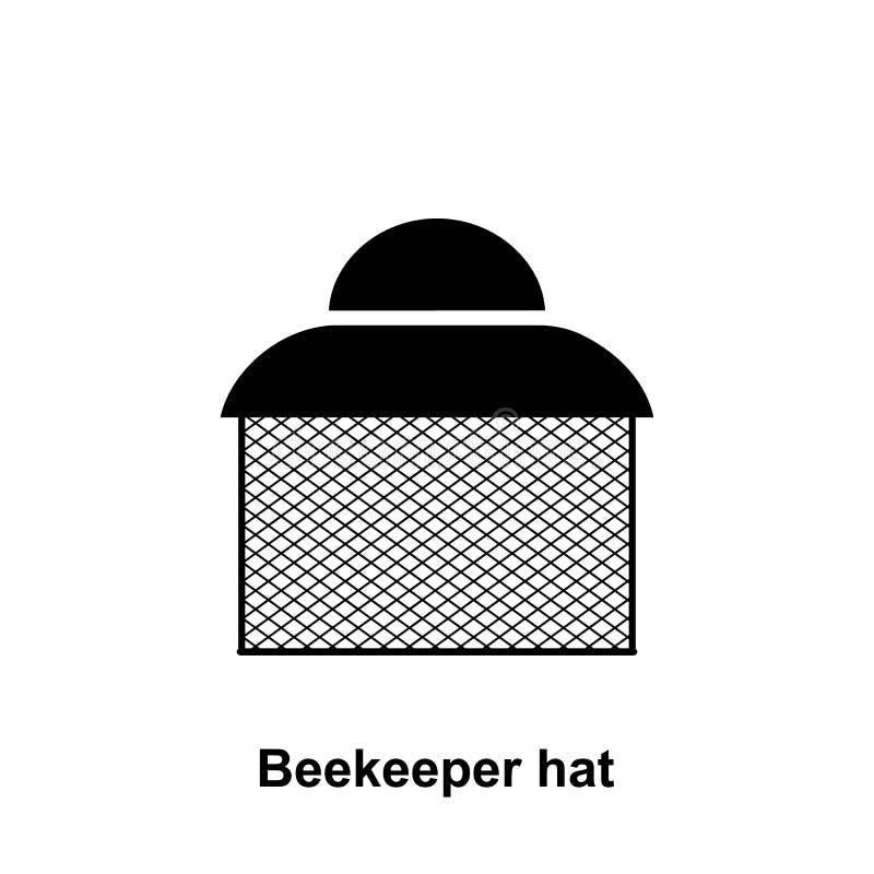Icono del sombrero del apicultor Elemento del icono de la apicultura Icono superior del diseño gráfico de la calidad Muestras e i libre illustration
