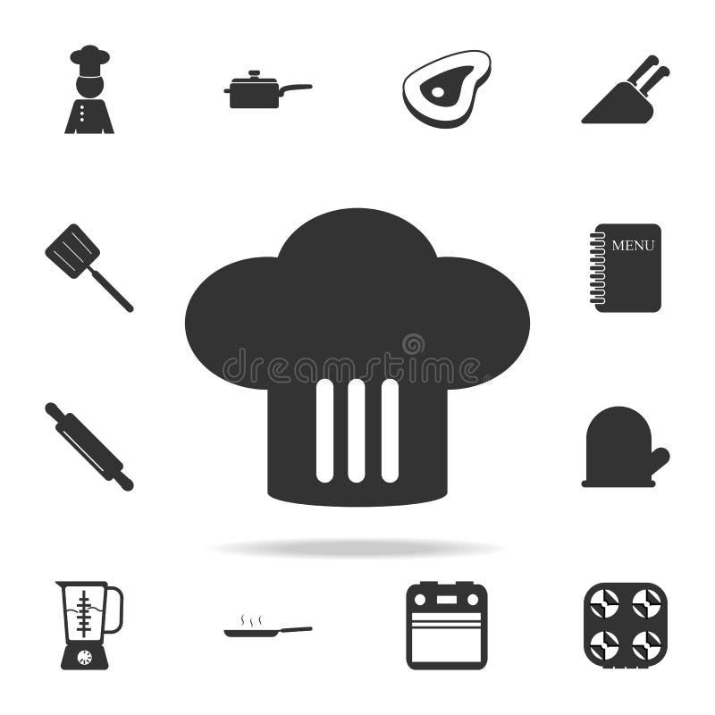 Icono del sombrero del cocinero Sistema de iconos del cocinero y del elemento de la cocina Diseño gráfico de la calidad superior  ilustración del vector