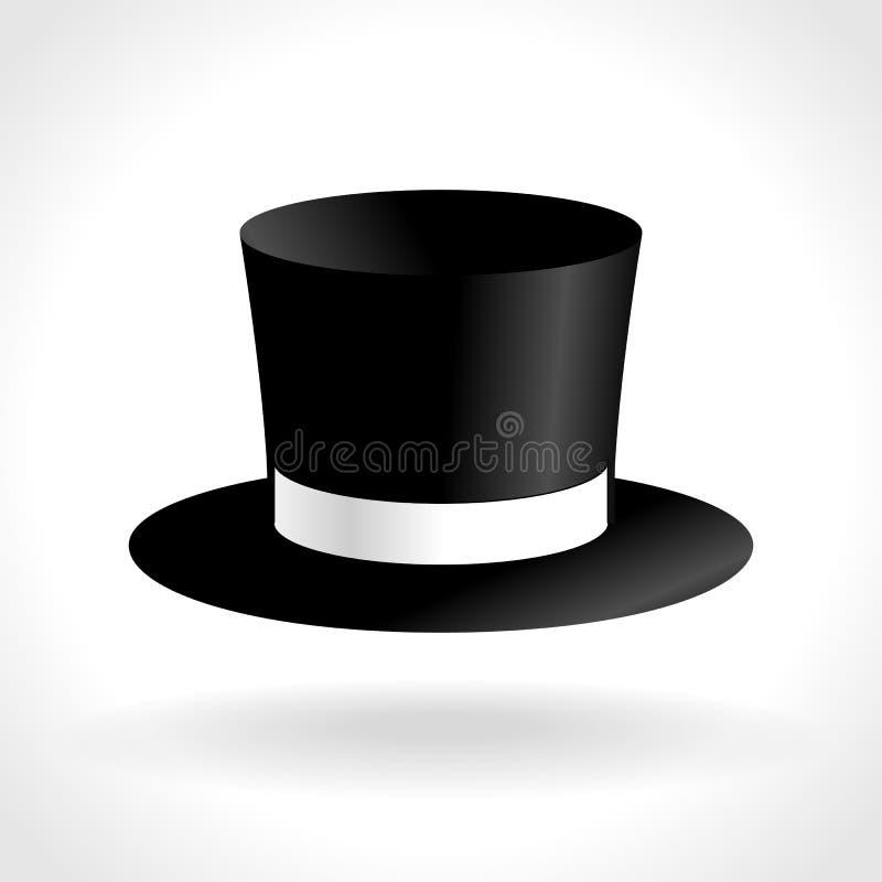 Icono del sombrero de copa stock de ilustración