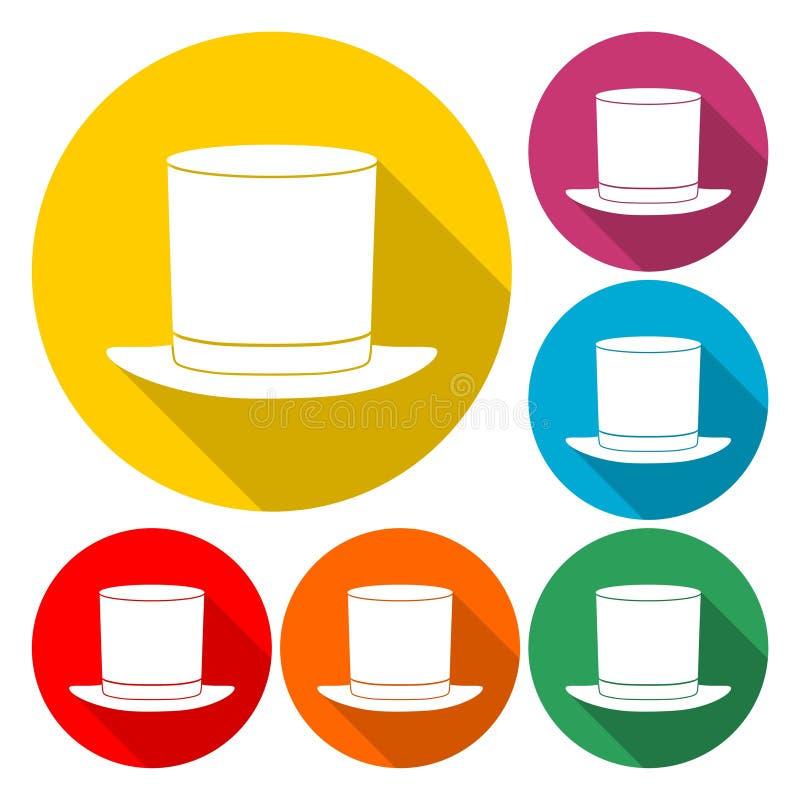 Icono del sombrero de copa - ejemplo ilustración del vector