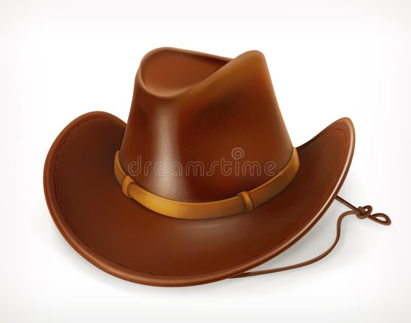 Icono del sombrero de vaquero stock de ilustración