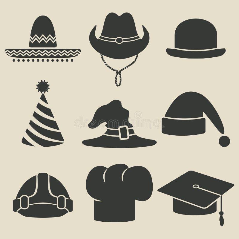 Icono del sombrero del partido ilustración del vector