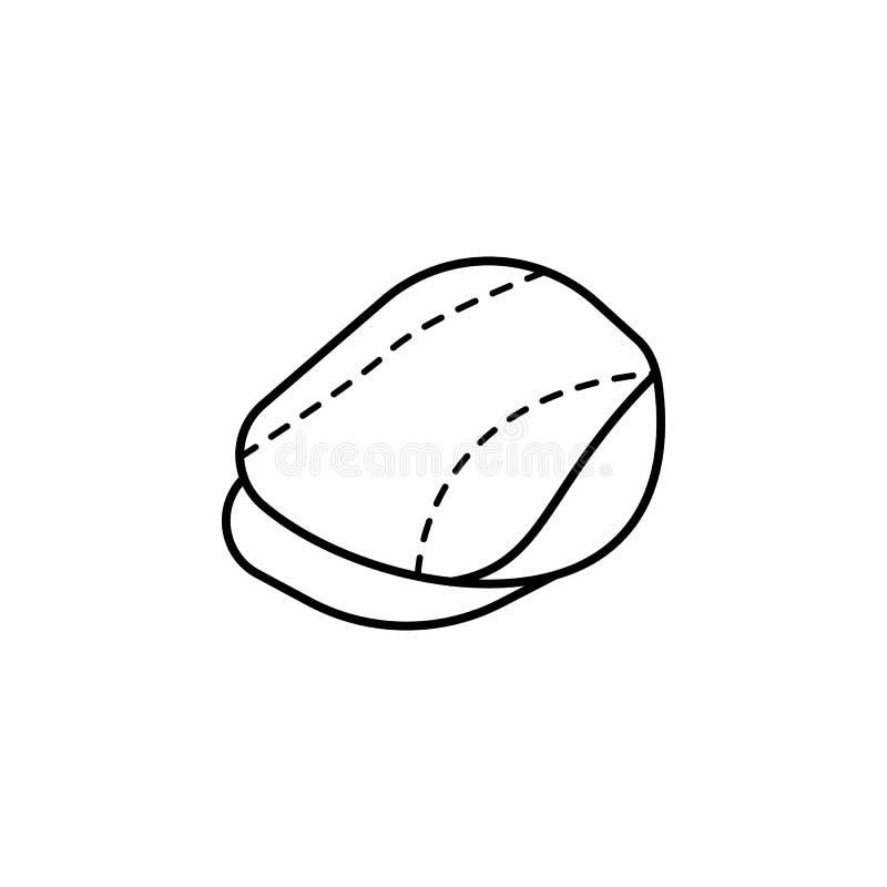 icono del sombrero del vendedor de periódicos Elemento del icono del sombrero para los apps móviles del concepto y de la web La l libre illustration