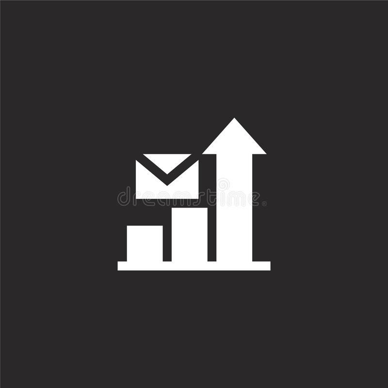Icono del Stats Icono llenado del stats para el diseño y el móvil, desarrollo de la página web del app icono del stats de la cole ilustración del vector