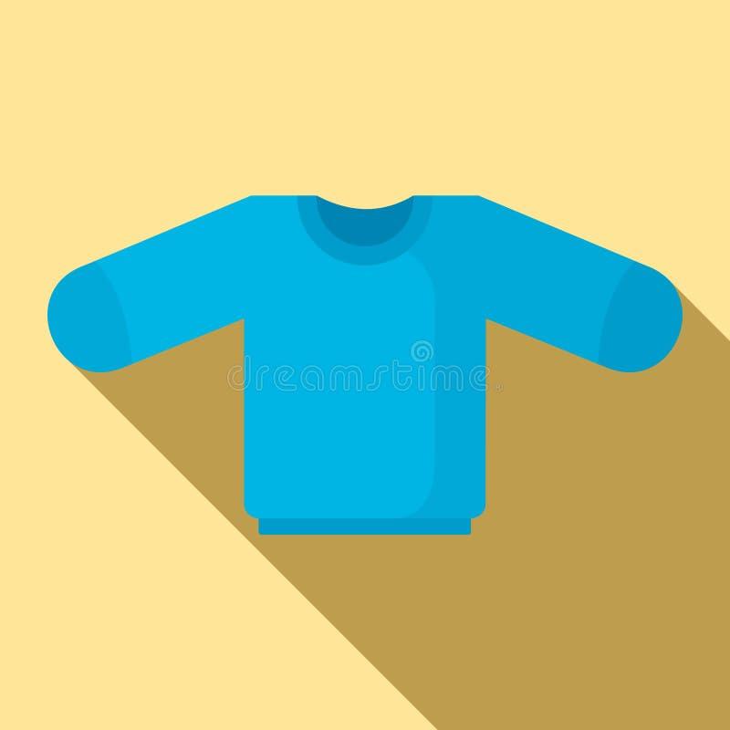 Icono del suéter del bebé, estilo plano stock de ilustración