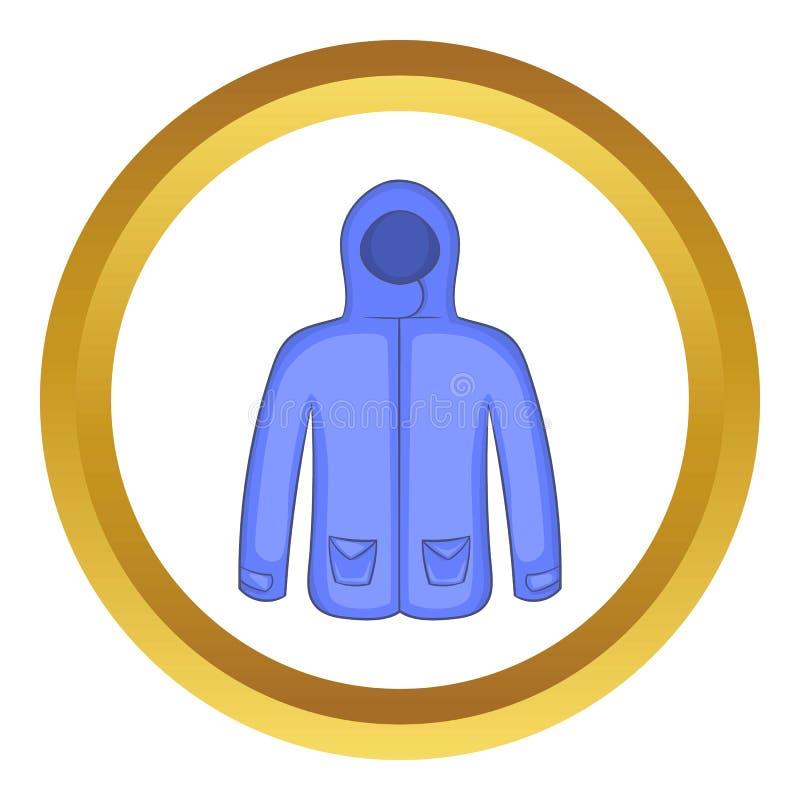 Icono del suéter de la sudadera con capucha libre illustration