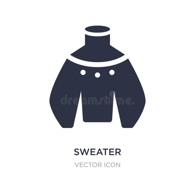 icono del suéter en el fondo blanco Ejemplo simple del elemento del concepto del otoño libre illustration