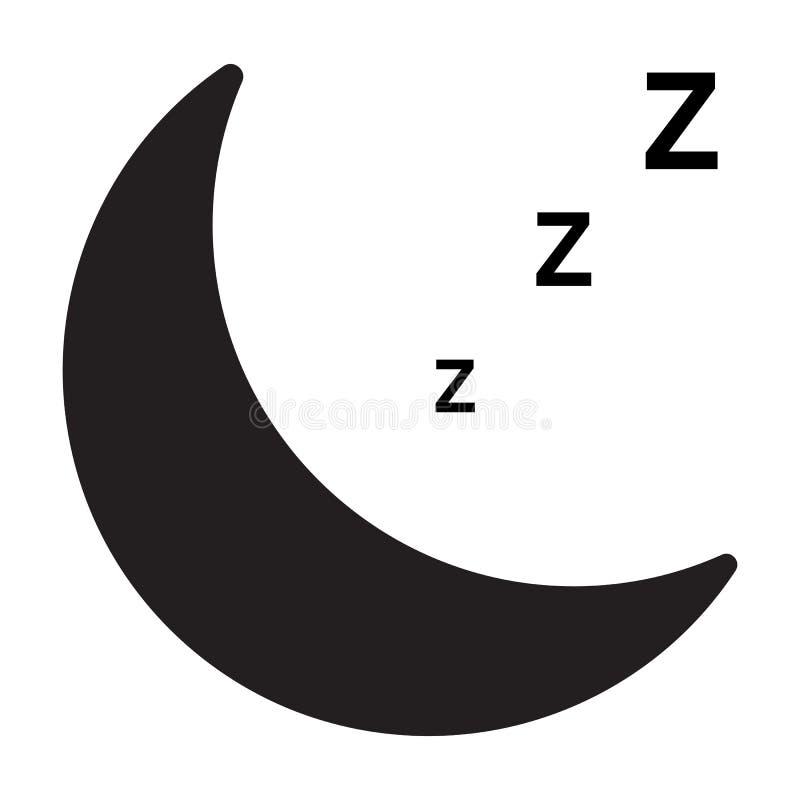 Icono del sueño en el fondo blanco icono para su diseño del sitio web, logotipo, app, UI del sueño Símbolo el dormir muestra el d stock de ilustración