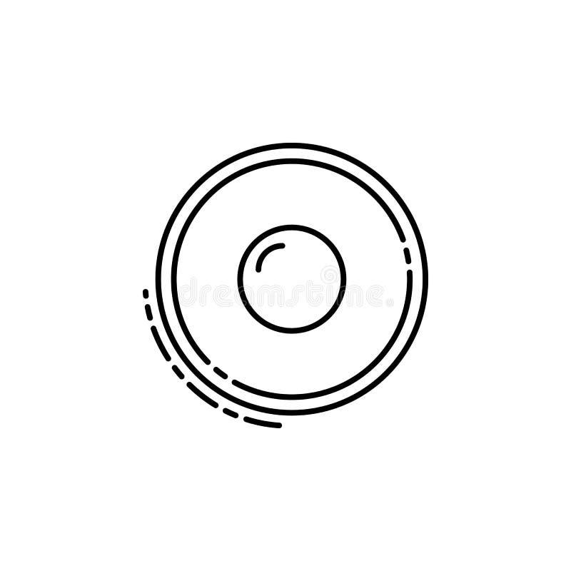 icono del sufganiyah Elemento del icono judío para los apps móviles del concepto y del web La línea fina icono del sufganiyah se  libre illustration