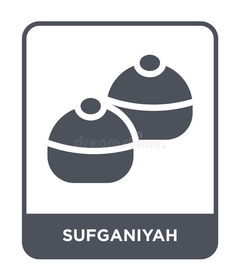 icono del sufganiyah en estilo de moda del diseño icono del sufganiyah aislado en el fondo blanco icono del vector del sufganiyah ilustración del vector