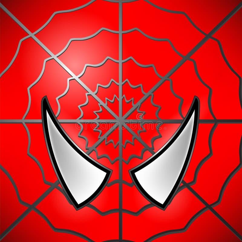 Icono del super héroe Máscara stock de ilustración