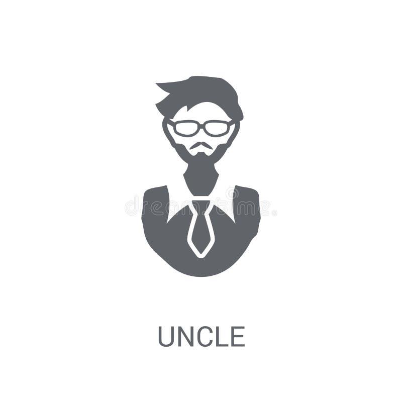 icono del tío Concepto de moda del logotipo del tío en el fondo blanco de F stock de ilustración