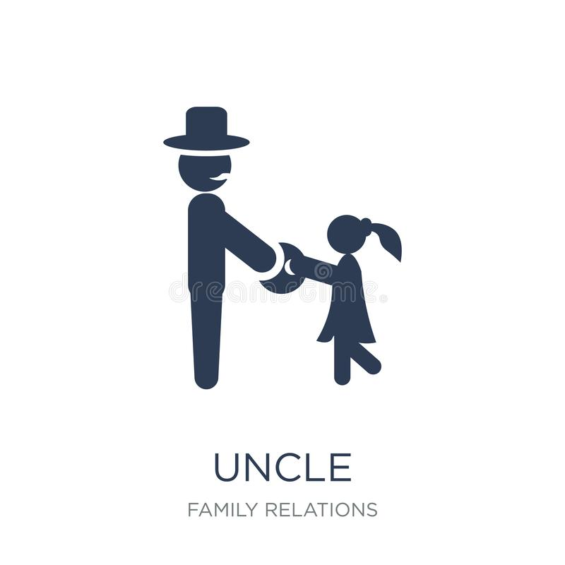 icono del tío Icono plano de moda del tío del vector en el fondo blanco franco stock de ilustración