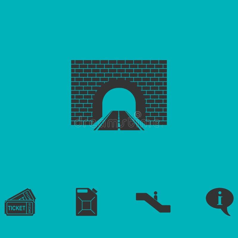 Icono del túnel del camino completamente libre illustration