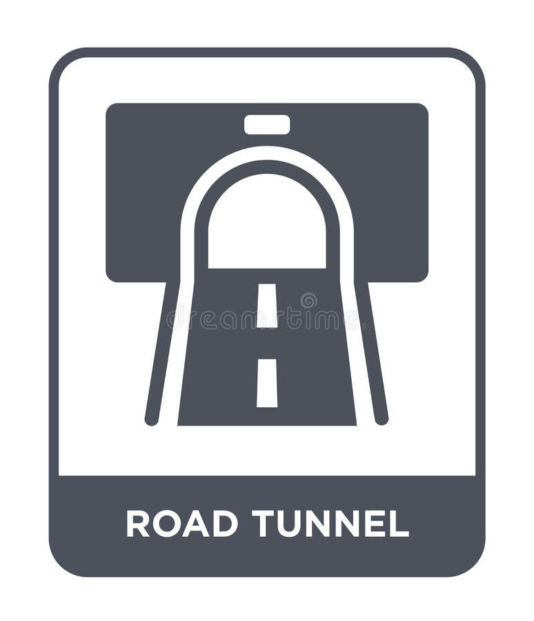 icono del túnel del camino en estilo de moda del diseño icono del túnel del camino aislado en el fondo blanco icono del vector de libre illustration