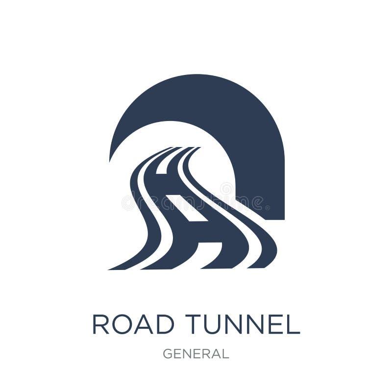 icono del túnel del camino Icono plano de moda del túnel del camino del vector en b blanco libre illustration