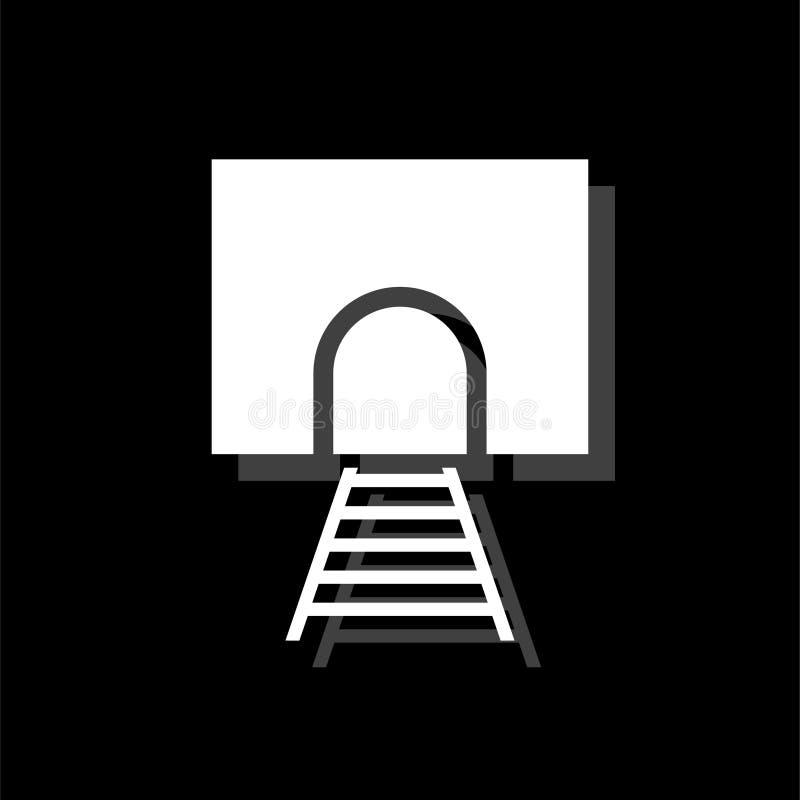 Icono del túnel ferroviario completamente stock de ilustración