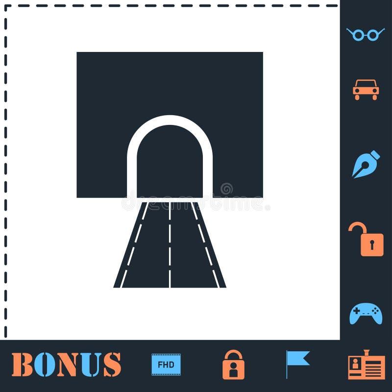 Icono del t?nel del camino completamente stock de ilustración