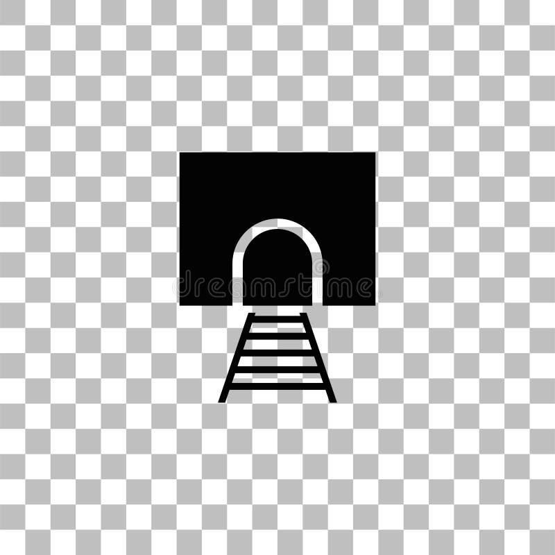 Icono del t?nel ferroviario completamente stock de ilustración